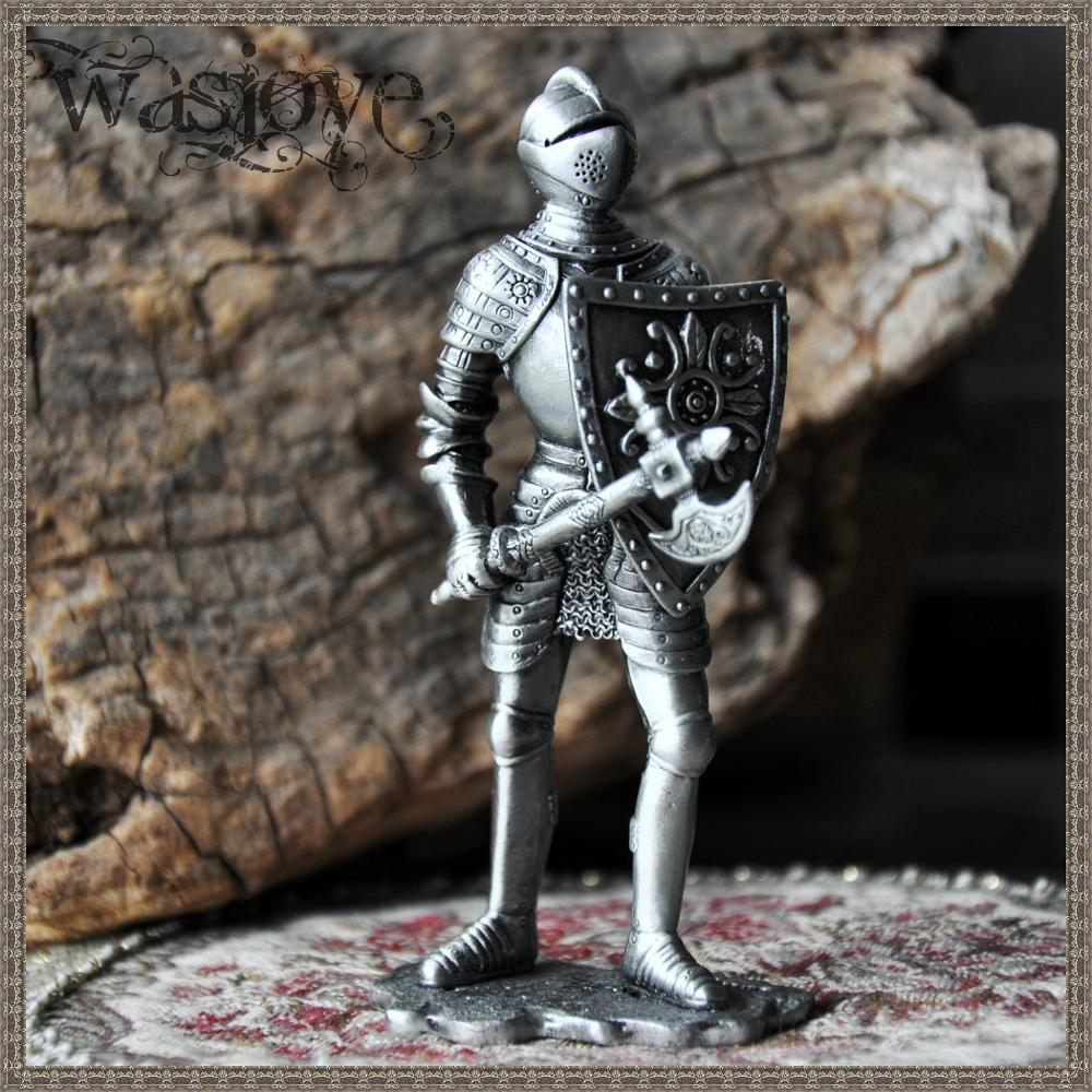 Classical European Tin Warrior Soldier Home Club Table Decoration Gift Ornaments