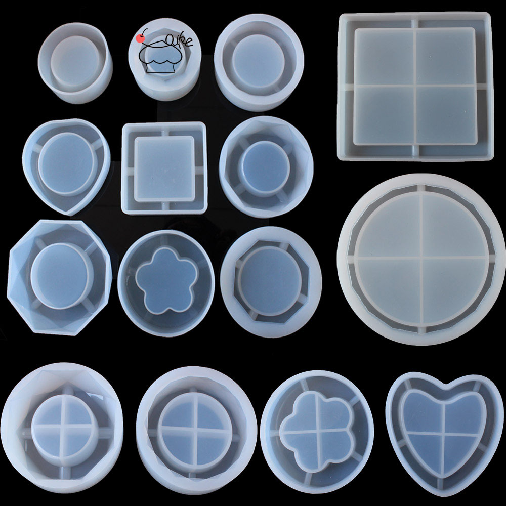 Aouke Molds 15 Kinds Ashtray Ashtray Silicone Mold Manual Flower Container Surface