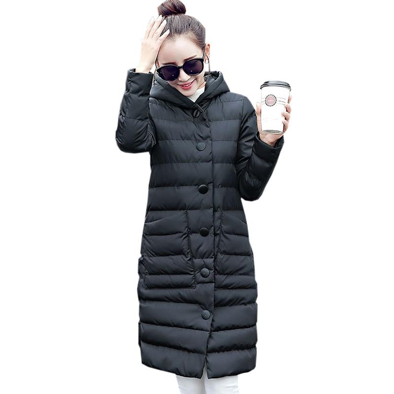 Winter Women Cotton Full Long Coats Jacket 2017 New Clothing Plus Size Top Hooded Casaco Feminino Fashion Abrigos Mujer K192 B1 winter jacket women 2017 women winter coat long coats cotton padded hooded jacket plus size 4xl abrigos mujer cc088