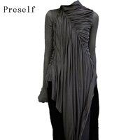 Preself New Design Woman Dresses Women Stylish High Quality Black Zipper Gothic Special Plus Size Dress