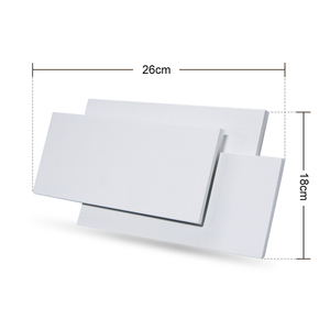 Image 4 - Modern Creative 18W LED Wall Lamp Living Room Aisle Staircase Square Lamps Bedroom Bedside Black/white Wall Light