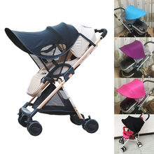 Baby Stroller Sun Visor Carriage Sun Shade Canopy Cover for Baby Prams Stroller Buggy Pushchair Cap Hood(China)