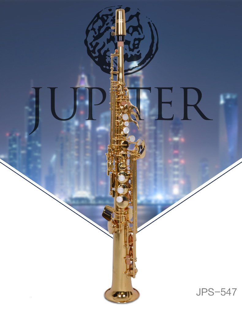 High Quality JUPITER JPS-547GL B(B) Tune Soprano Saxophone Professional Musical Instruments Sax Gold-plated Pearl Buttons case new soprano saxophone b flat playing professionally yss 475 soprano musical instruments soprano sax professional free shipping