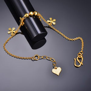 Image 4 - 24K Pure Gold Bracelet Real 999 Solid Gold Bangle Flower O Shape Adjustable Trendy Classic Party Fine Jewelry Hot Sell New 2020