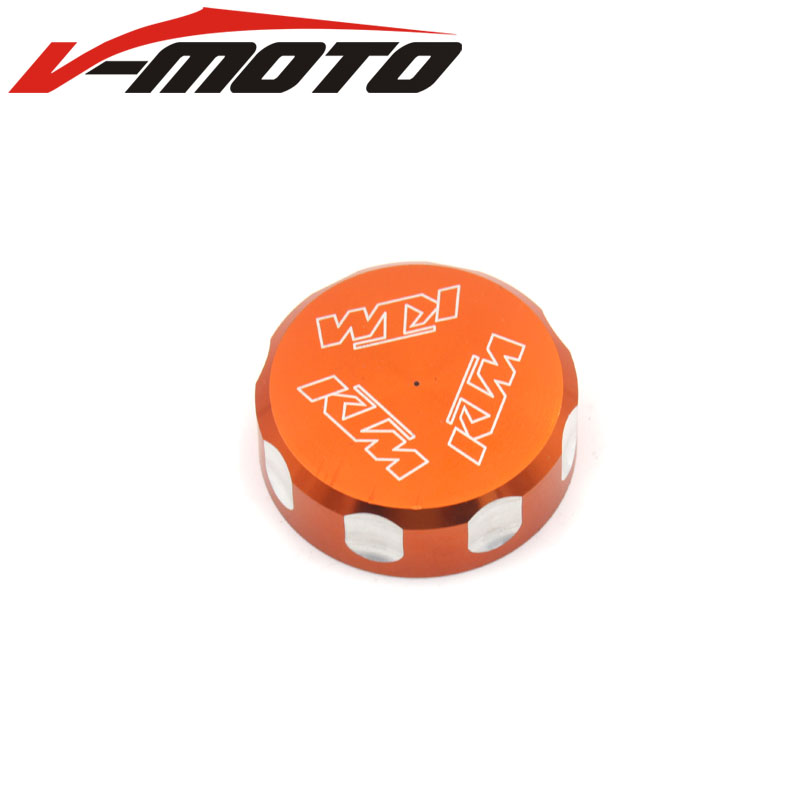 FOR KTM DUEK 125/200/390 RC 200/250/390 CNC Motorcycle accessories parts Rear Brake master cylinder fluid Reservoir Cover Cap for ktm logo 125 200 390 690 duke rc 200 390 motorcycle accessories cnc engine oil filter cover cap