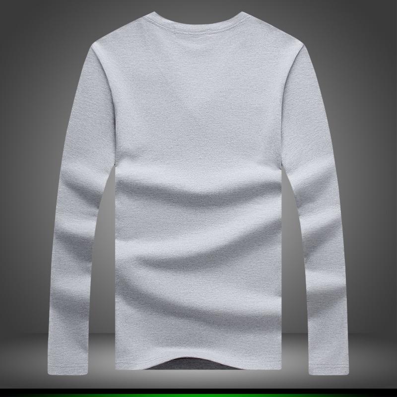 HOT BRAND 2018 Lelaki Fesyen Baru Fesyen Pakaian Pepejal Warna Long - Pakaian lelaki - Foto 2
