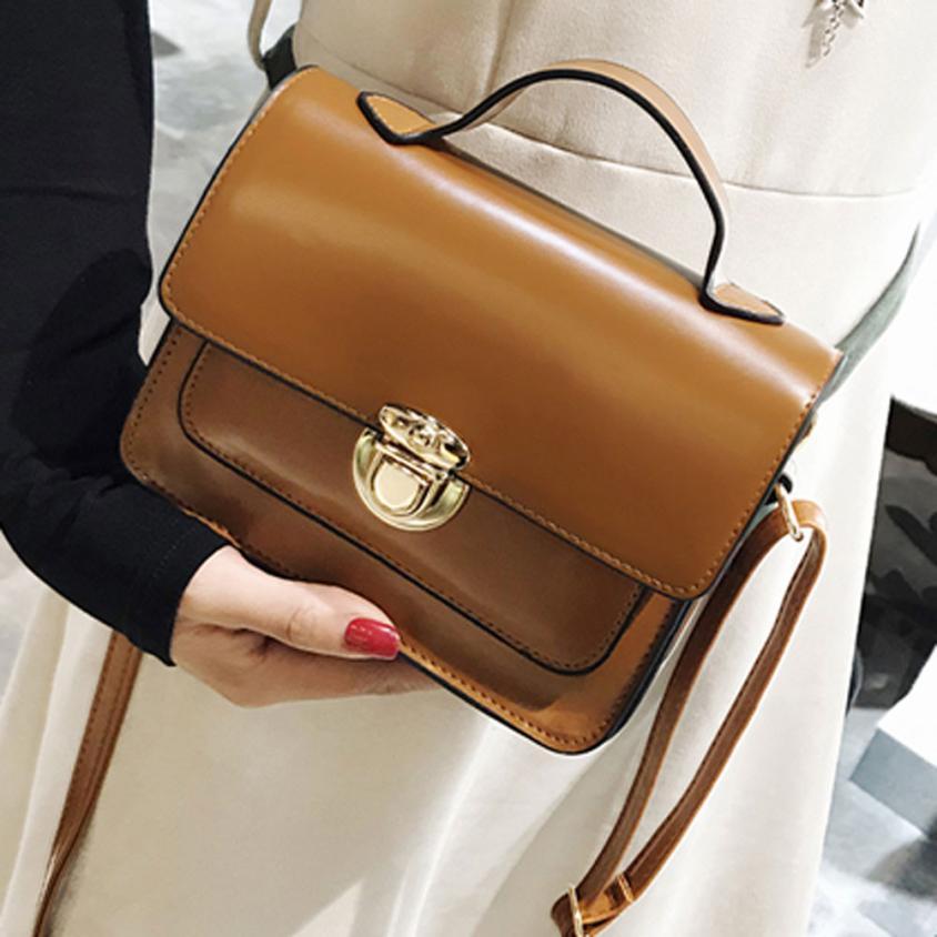 Женская Мода PU кожа Сумка Для женщин Однотонная одежда застежкой небольшой площади сумка # F