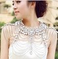2016 Recién Llegado de Gorgeous Crystal Cadena Del Hombro para Las Mujeres Accesorios Del Vestido de Boda de La Manera de Hombro de Las Cadenas de Collar de Novia
