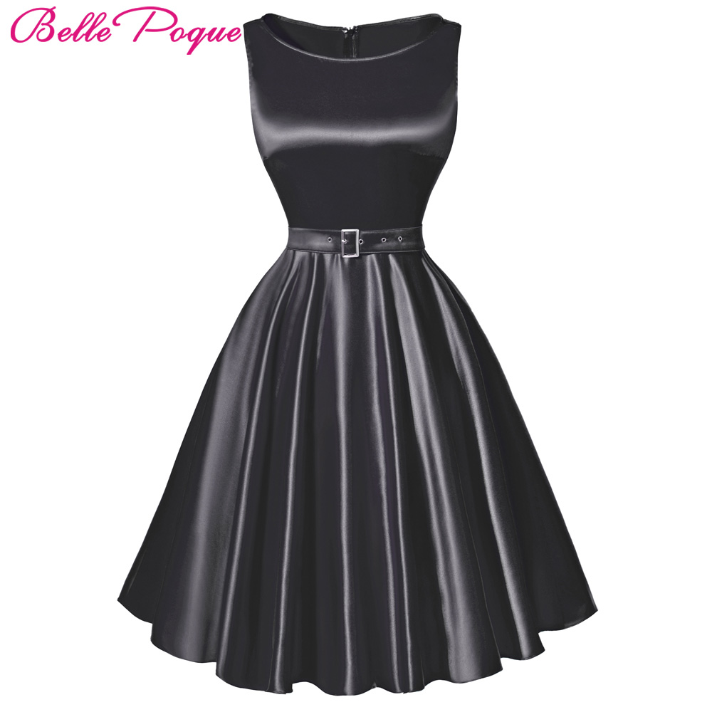 Belle Poque Womens Clothing Summer 2017 Audrey Hepburn Vintage pinup Retro robe Casual Gown Big Swing 50s Rockabilly Dresses