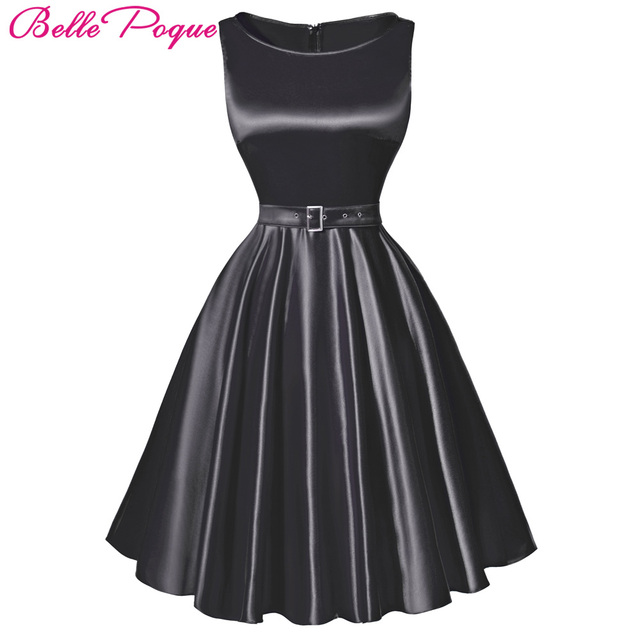 76f8be54858 Belle Poque Womens Clothing Summer 2017 Audrey Hepburn Vintage pinup Retro  robe Casual Gown Big Swing 50s Rockabilly Dresses-in Dresses from Women s  ...