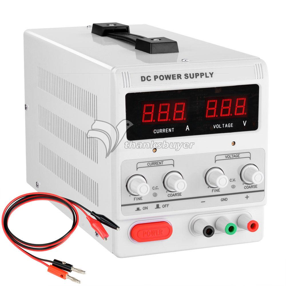 MS303D Precision Variable 50Hz 90W Switchable LED DIsplay 30V 3A Adjustable Regulated DC Power Supply 50 303 14