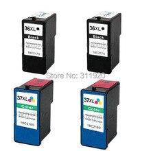 купить 4 Multi Pack Ink Cartridge for Lexmark 36 37 X3650 X4650 X5650 X6650 дешево