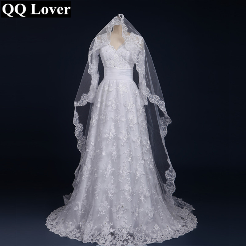 QQ Lover 2019 New Arrival Long sleeve Wedding Dresses Wedding Custom Made Bridal Gown Plus Size Vestido De Noiva