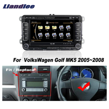 Liandlee For VolksWagen Golf MK5 2005~2008 Car Android Radio CD DVD Player GPS NAVI Maps HD Touch Stereo Media TV Multimedia