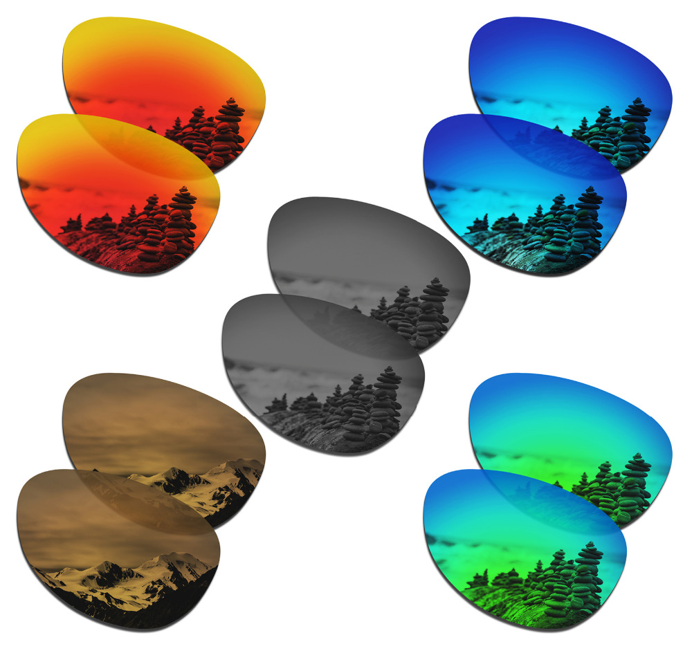 SmartVLT 5 Pairs Polarized Sunglasses Replacement Lenses for Oakley Encounter - 5 Colors