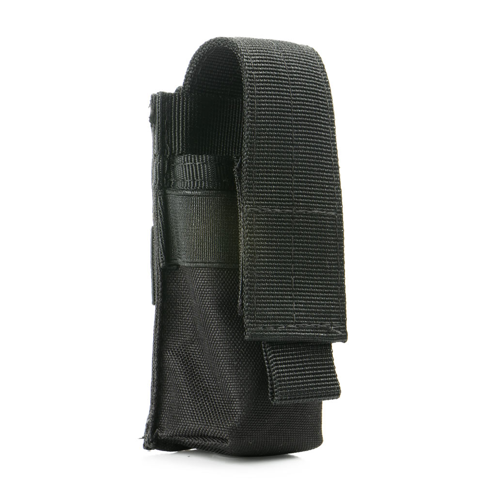 1000D Portable Military Case Flashlight Torch Belt Holster Holder Case Pouch Black For Similar Size Tactical Handheld Flashlight