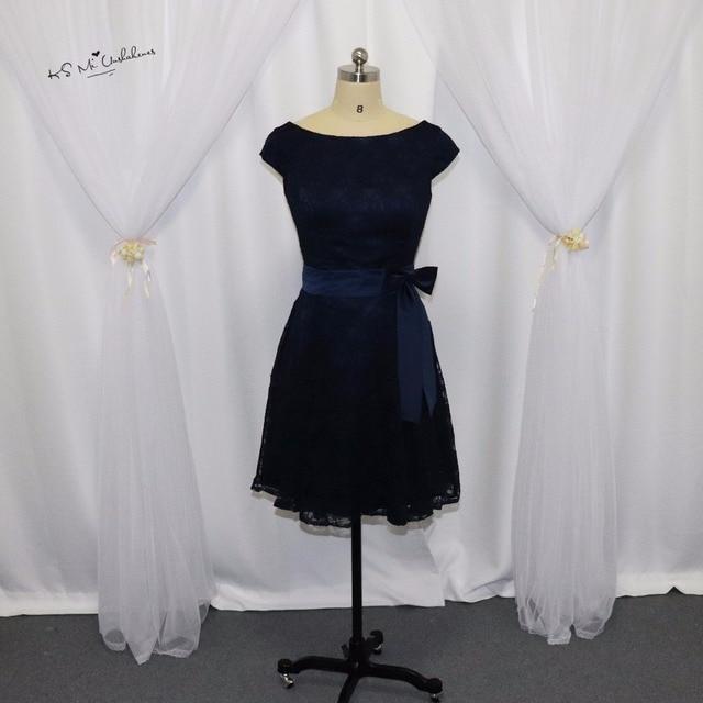 Short Navy Dresses for Wedding Guest