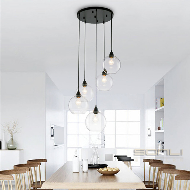 Nordic globe clear ball pendant lights kitchen lighting living nordic globe clear ball pendant lights kitchen lighting living room village restaurant balcony bar hanging lamp aloadofball Images