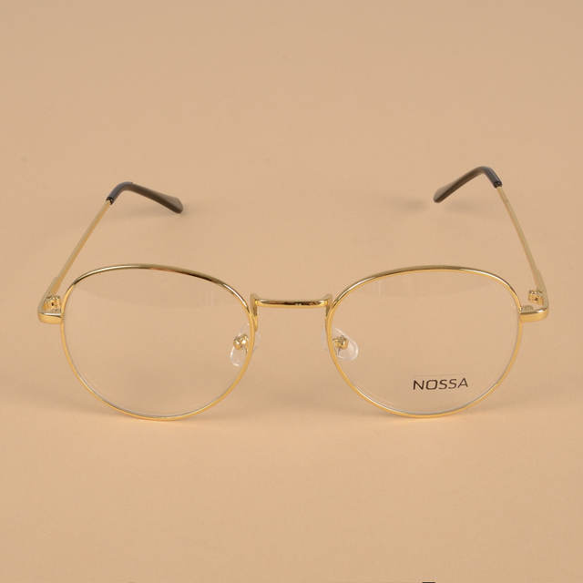 6338a269b43 placeholder Men And Women Classic Round Gold Glasses Frame Vintage Simple  Style Metal Eyeglasses Clear Lens Myopia