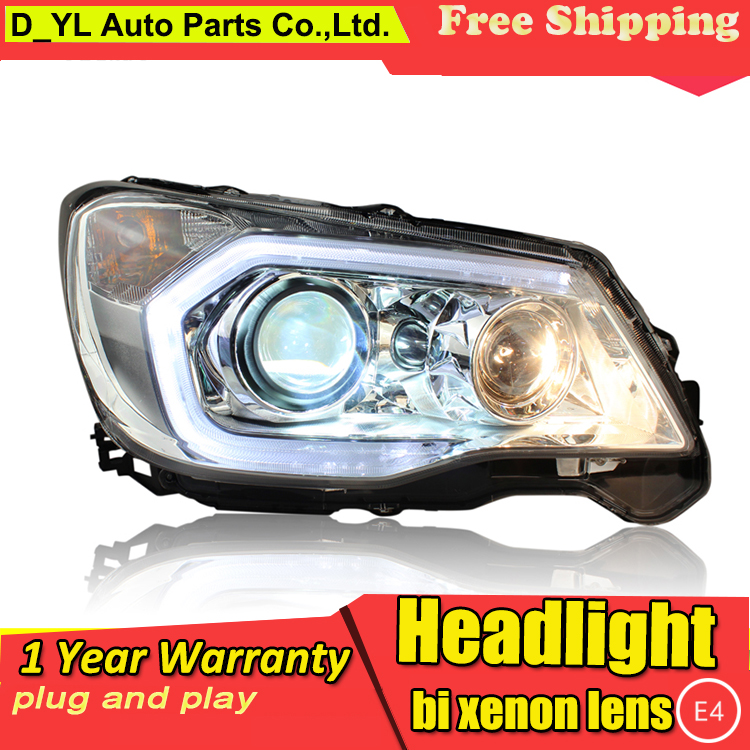 Car Styling Headlights for Forester 2013 15 LED Headlight for Forester Head Lamp LED Daytime Running
