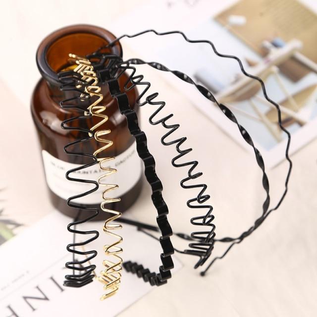 Nuevo 7 tipos de Venta caliente unisex Simple y elegante onda forma negro pinzas para el cabello mujeres y hombres guapos modelado de belleza herramienta de pelo pinza