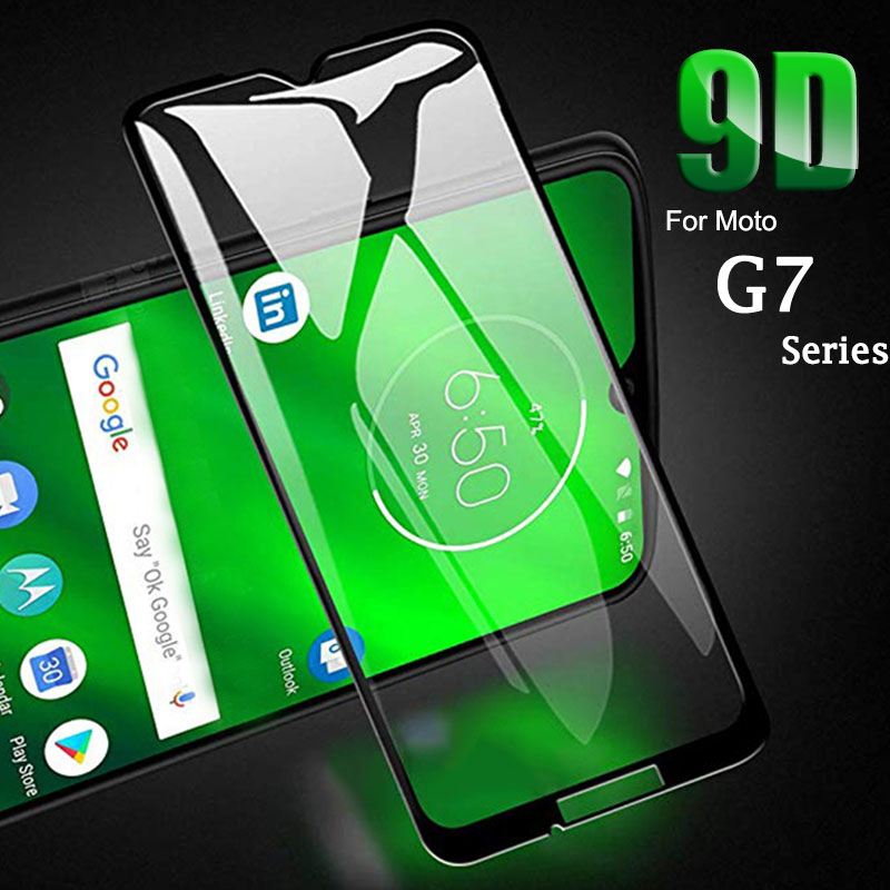9D Full Glue Tempered Glass For Moto G7 Plus Power Play Screen Protector For Motorola Moto G 7 7play 7power 7plus G7power Glass