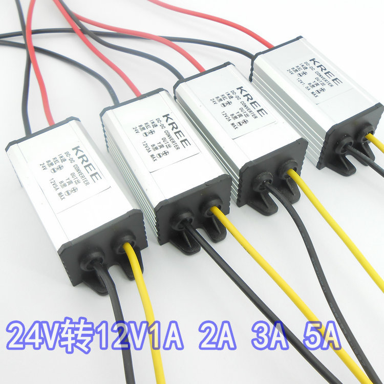 24 v to 12 v DC transformer step-down transformer DC - DC power supply module 1.5 A2A3A5A car power converter утюг energy en 326 orange