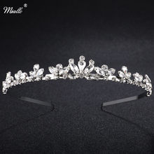 Miallo encantos strass tiara coroa de casamento para noiva nupcial bandana acessórios para o cabelo jóias artesanal senhoras handband festa