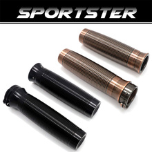 Motorcycle Handle Bar Hand Grips For Harley Sportster XL1200 883 Softail Dyna Touring Grip CNC Custom Rough Crafts 1 25mm triclicks new turn signal lights lenses round cover lens motorcycle light covers car covers for dyna softail sportster touring