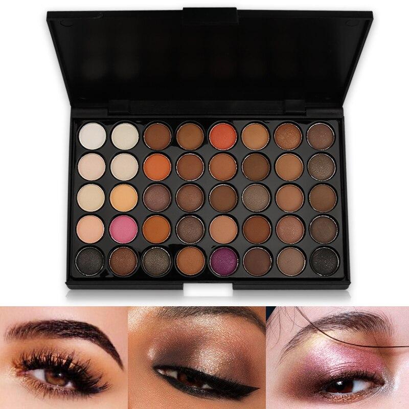 40 Colors Eyeshadow Pallete Matte Make Up Earth Palette Glitter Waterproof Lasting Loose Nude Powder Eye Shadow Makeup Pigmented
