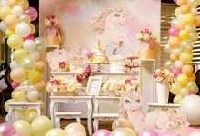 Laeacco Colorful Balloons Flowers Unicorn Cake Baby Photography Backgrounds Customized Photographic Backdrops For Photo Studio