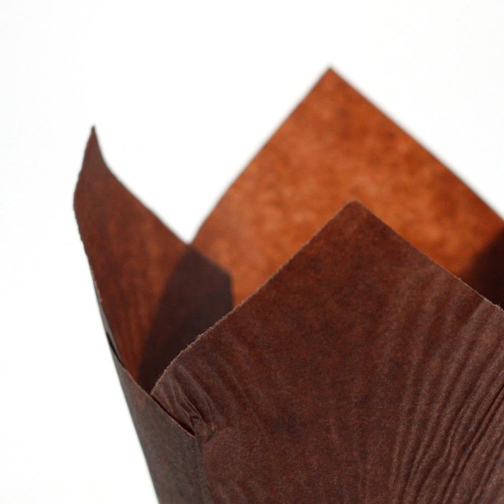 PHFU Professional Tulip Pattern Large Muffin Paper Cupcake Cake Cases Wraps Chocolate Brown