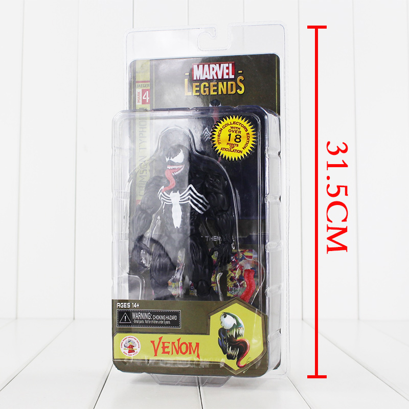 17cm Spider Man Spider Venom Black Spider PA Secret Wars Peter Parker PVC Action Figure Doll Toys Kids Gift