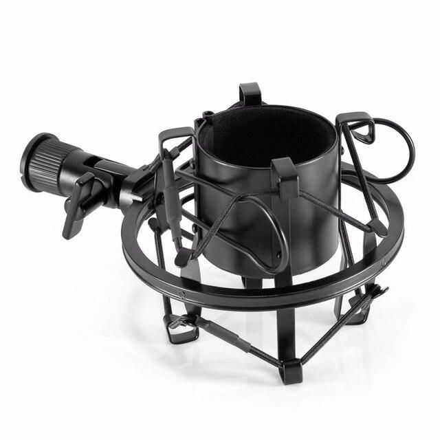 Универсальный держатель для микрофона Neewer, черная амортизирующая подвеска с зажимом для студийного конденсатора, Антивибрационная подвеска