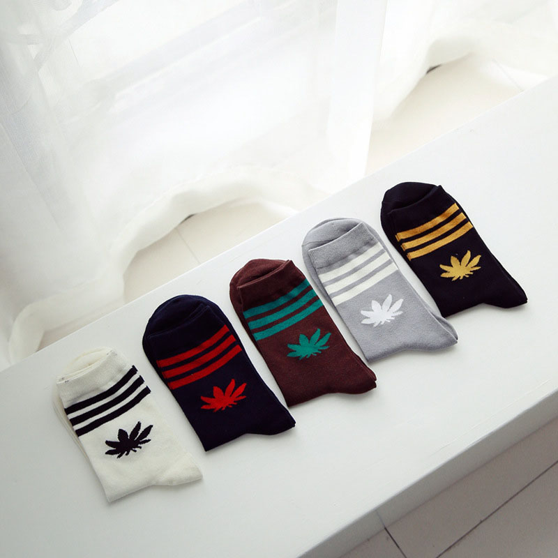 Men 39 s Socks Famous Weed Stripes Socks For Men Women Winter And Autumn Warm Cotton Casual Tube Sock Meias Calcetines Hombre in Men 39 s Socks from Underwear amp Sleepwears