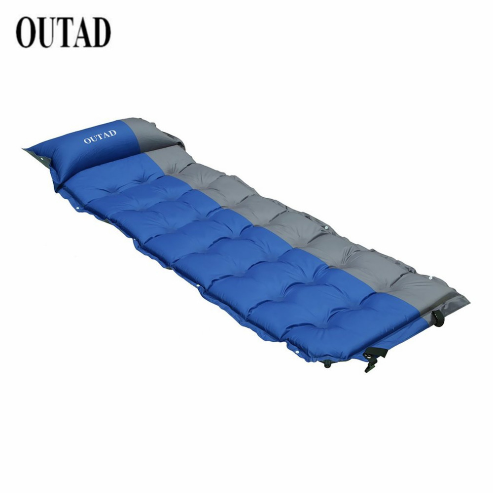 OUTAD 200*65*5cm Waterproof Self-Inflating Dampproof Sleeping Pad Mat Moistureproof Tent Outdoor Camping Picnic Mattress Blanket automatic inflatable cushion outdoor travelling sleeping bed pad camping mat sleeping picinic mattress pad self inflating