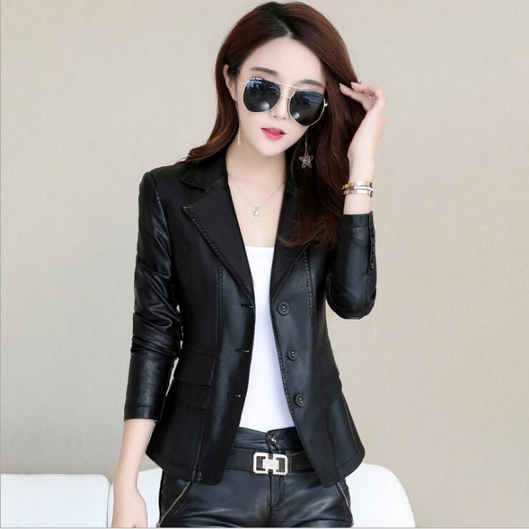 2018 Новая модная женская куртка Европейская модная кожаная куртка Pimkie Чистящая Одиночная из искусственной кожи мотоциклетная chaqueta mujer