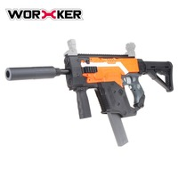 WORKER Kids DIY Building Blocks Gun Toys Modified Kit Kriss Vector Imitation Kit Assembly Toy Puzzle Brain Game Model Gifts
