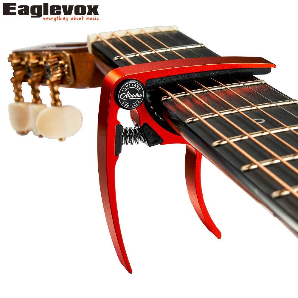Amumu In Lega di Alluminio Chitarra Capo Guitarra Capotraste per Acustica Ukulele Basso Banjo Mandolino FC10