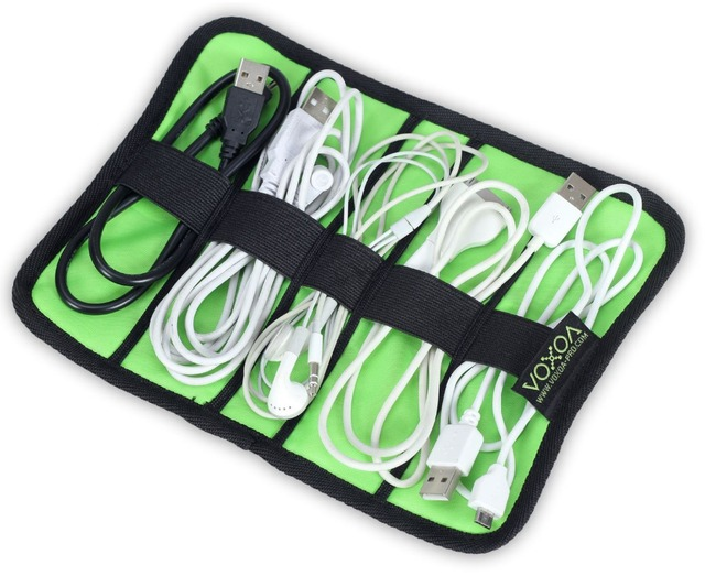 Hot Sale BUBM Roll Wire Storage Bag for Digital Gadget Devices USB Cable Earphone Electronics Accessories Travel Bag Organizer