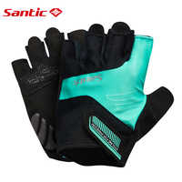 Santic Half Finger Cycling Short Gloves Unisex Summer Half Finger Cool Feeling Anti-pilling Anti-static Sun-protective WM7C09065