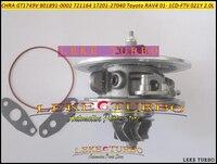 Livre o Navio Cartucho Turbo CHRA Núcleo GT1749V 17201-27040 801891-0001 721164 17201 27040 Para TOYOTA RAV4 1 CDFTV 1CD-FTV 021Y 2.0L