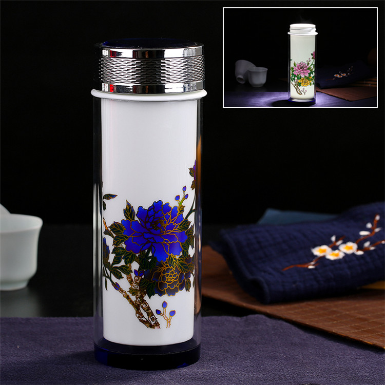 Cup Glass Retro Flask Chinese Blue Thermos Change Color Porcelain 25Off Termos In vintage Ceramic White Creative Vacuum Tea 99 Us14 Thermocup dCxBeWrQo