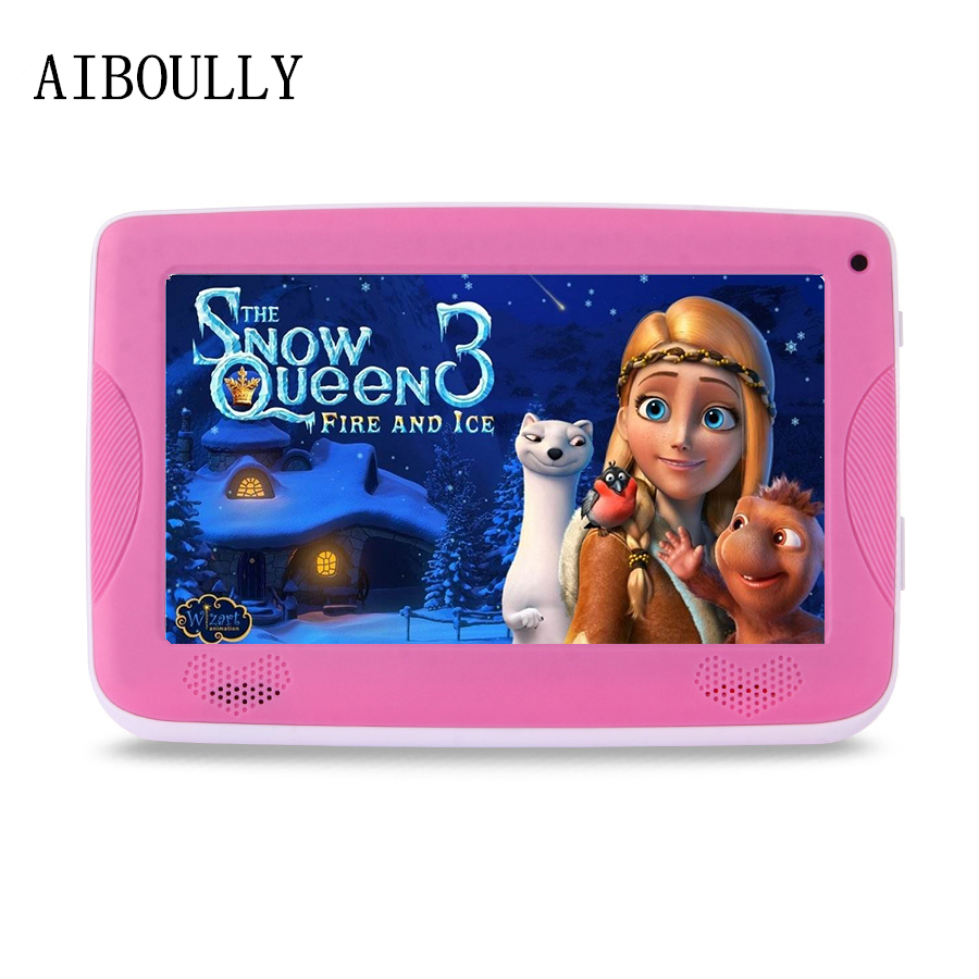 AIBOULLY 7 inch Android Tablets Quad Core Android 6.0 1GB RAM 8GB ROM Dual Camera WiFi Tablet pc for Kids with Silicone Case 8'' mk808b rk3066 dual core android 4 2 mini pc w 8gb rom 1gb ram bluetooth rii i8 air mouse