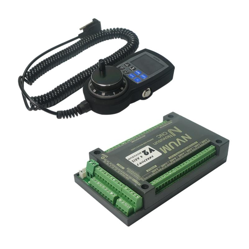 דיגיטלי דופק ידני handwheel NVUM 4 ציר NVEM V2 גרסה CNC בקר 200 khz USB MACH3 בקרת תנועה כרטיס עבור מנוע צעד