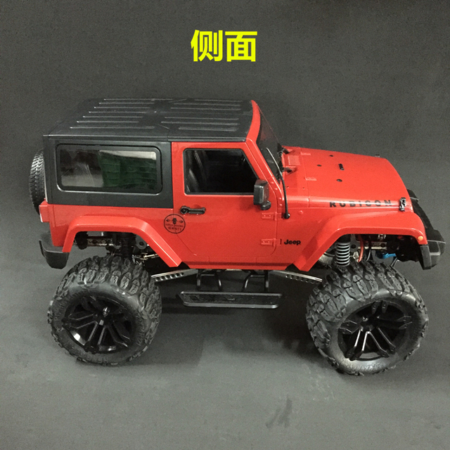 1 10 rc scale monster rock crawler 4x4 truck with jk red. Black Bedroom Furniture Sets. Home Design Ideas