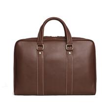 ROCKCOW Classic Designing Business Leather Briefcase Vintage Laptop Bag Men's Handbag D007