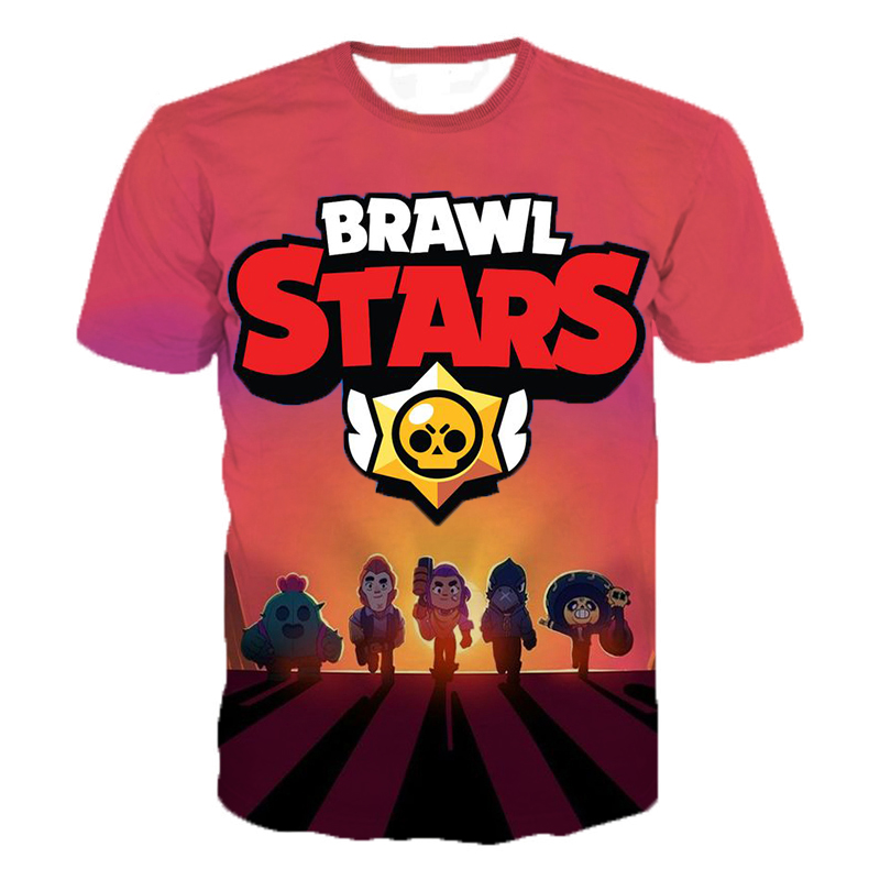 New Arrival Game Brawl Stars 3D Printed   T     Shirts   Summer Tops Men Women Short Sleeve Fashion Casual Personaity   T     Shirts   2XS-5XL