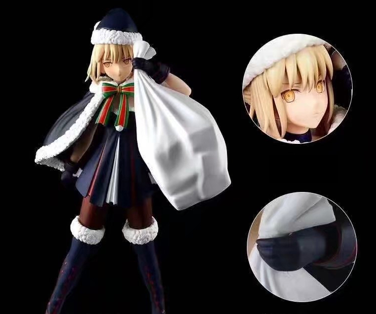 23cm Japanese anime figure Fate / Grand Order Alter Saber Christmas ver action figure collectible model toys for boys le fate топ