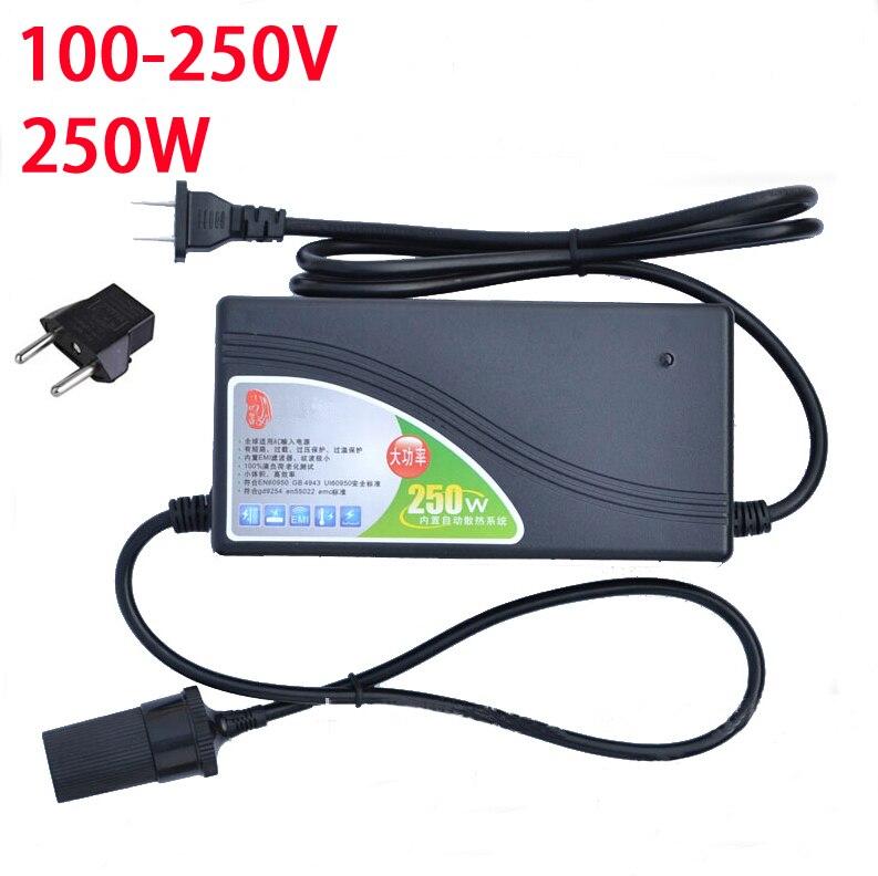 250 Watt stromrichter ac 220 v (100 ~ 250 v) eingang dc 12 V 20A ausgangs adapter auto-netzteil zigarettenanzünder stecker